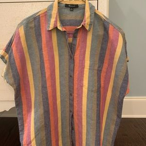 Madewell tie in front button up